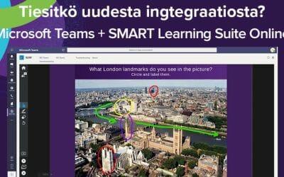 Nyt saatavilla: SMART Learning Suite Online integroituna Microsoft Teamsiin